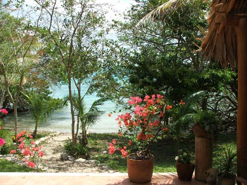 View of the Laguna from the Terazza of Casa Estrella de Bacalar