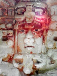 Mask from nearby Becan Maya archaeological site